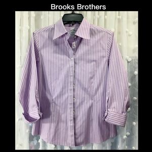 💜BROOKS BROTHERS 4 Pinstriped Button Up💜